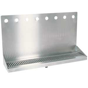 "24"" Stainless Steel Wall Mount Drain Tray - 8 Faucet # DP-322ELD-8"