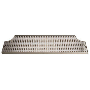 "28"" Stainless Steel Surface Mount Drain Tray, w/ Drain # DP-MET-H-28-Z"