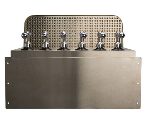 Under Bar Dispensing Cabinet - Glycol Cooled - 6 304 Faucets # SB620-KR