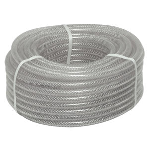 "3/8"" I.D. Braided Vinyl Hose - 100' Spool # 550WD1200C"