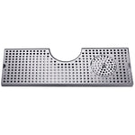 "34"" Stainless Steel Surface Mount w/ Glass Rinser # DP-MET-T-34GR-Z"