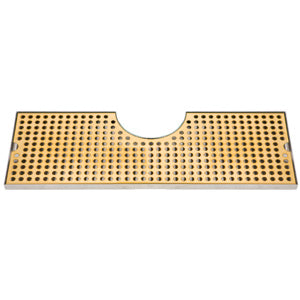 "34"" Stainless Steel Tray with PVD Grid Surface Mount # DP-MET-T-PVD-34-Z"