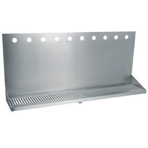 "36"" Stainless Steel Wall Mount Drain Tray - 10 Faucet - 3"" Center # DP-332ELD-10-3"