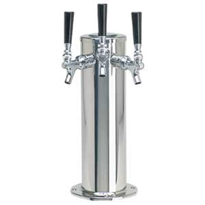 "4"" Column - 3 Faucets - Polished Stainless Steel - Air Cooled # DS-143-PSS"
