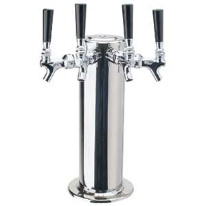 "4"" Column - 4 Faucets - Polished Stainless Steel - Air Cooled # DS-144-PSS"