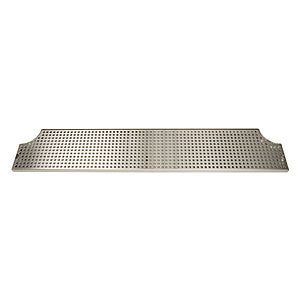 "46"" Stainless Steel Surface Mount Drip Tray w/ Drain # DP-MET-H-46-Z"