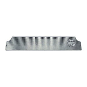 "46"" Surface Mount w/ Rinser 46"" Stainless Steel Surface Mount Drip Tray w/ Rinser # DP-MET-H-46GR-Z"