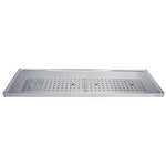 "51"" Stainless Steel Glass Rinser Drain Tray, 8-12 Faucets # DP-1610"