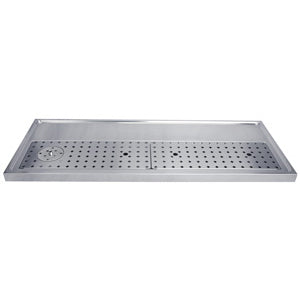 "59"" Stainless Steel Glass Rinser Drain Tray, 12-14 Faucets # DP-1611"
