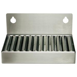 "6""x 4"" Stainless Steel Refrigerator Drip Tray # DP-6X4"