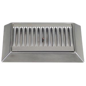 "9"" Stainless Steel Bevel Edge Drip Tray, With Drain # DP-420D"
