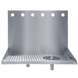 "Beer Drip Tray - 24"" Wall Mount with rinser - 6 Faucet # DP-322ELD-6GR"