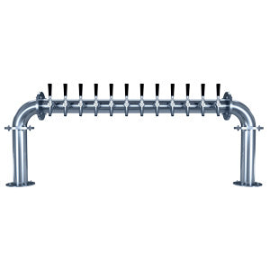 "Biergarten ""U"" - 12 Faucets - Polished Stainless Steel - Glycol Cooled # BG-U-12KR"