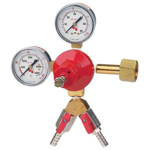 Double Gauge - CO2 Primary - 1 Pressure - 2 Kegs # 842-2