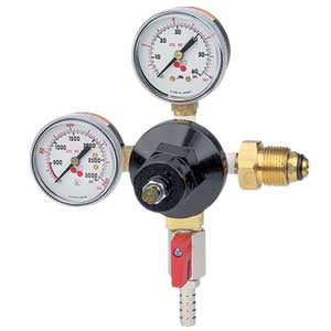 Double Gauge - Nitrogen Regulator - with Shut-Off Valve # 842N