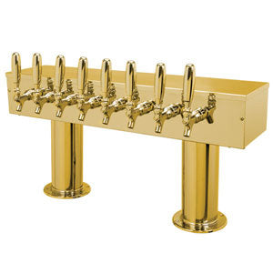 Double Pedestal - 8 304 Faucets - PVD Brass - Glycol Cooled # DPT48PVDKR