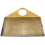 Draft Beer Tower Drip Tray, SS/PVD Brass, With Drain # DP-740DSSPVD