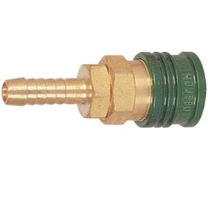 Gas Quick Disconnect Coupler - Green # 954-2B