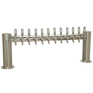 "Metropolis ""H"" - 12 304 Faucets - Polished Stainless Steel - Glycol Cooled # METRO-H-12PSSKR"