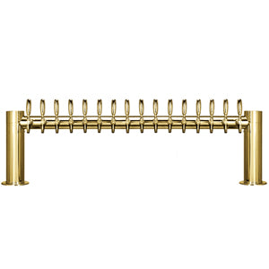 "Metropolis ""H"" - 16 Faucets - PVD Brass - Glycol Cooled # METRO-H-16PVDKR"