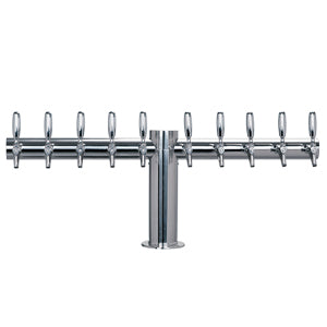 "Metropolis ""T"" - 10 304 Faucets - Polished Stainless Steel - Glycol Cooled # METRO-T-10PSSKR"