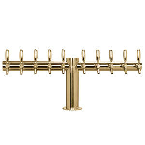 "Metropolis ""T"" - 10 Faucets - PVD Brass - Glycol Cooled # METRO-T-10PVDKR"