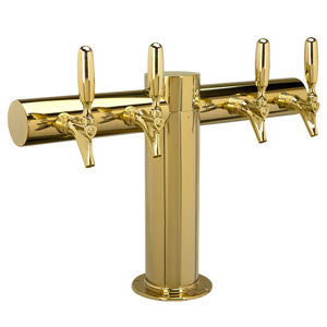 "Metropolis ""T"" - 4 304 Faucets - PVD Brass - Glycol Cooled # METRO-T-4PVDKR"