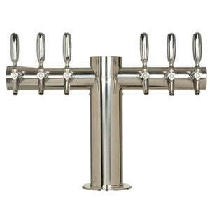 "Metropolis ""T"" - 6 304 Faucets - Polished Stainless Steel - Glycol Cooled # METRO-T-6PSSKR"
