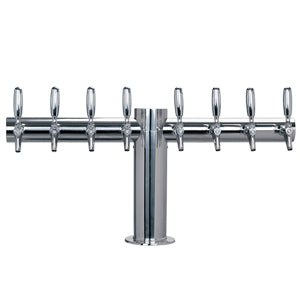 "Metropolis ""T"" - 8 304 Faucets - Polished S/S - Glycol Cooled - 4"" Center # METRO-T-8PSSKR-4"