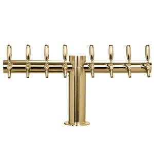"Metropolis ""T"" - 8 304 Faucets - PVD Brass - Glycol Cooled - 4"" Center # METRO-T-8PVDKR-4"
