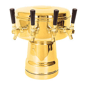 Mushroom Tower - 4 304 Faucets - PVD Brass - Glycol Cooled # MTB-4BRKR