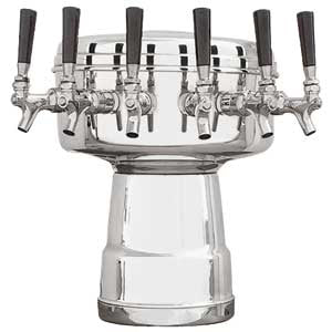 Mushroom Tower - 6 Faucets - Polished Stainless Steel - Air Cooled # MTB-6PSS