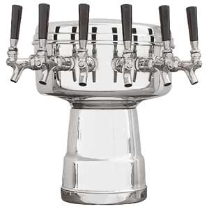 Mushroom Tower - 6 Faucets - Polished Stainless Steel - Glycol Cooled # MTB-6PSSKR