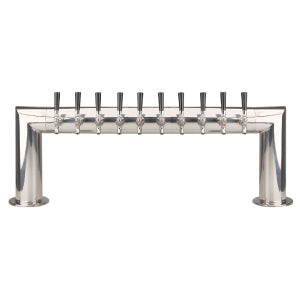 Pass Thru - 10 304 Faucet - Polished Stainless Steel - Glycol Cooled # PT4A-10PSSKR
