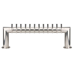 Pass Thru - 12 304 Faucet - Polished Stainless Steel - Glycol Cooled # PT4A-12PSSKR