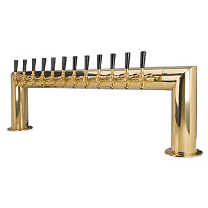 Pass Thru - 12 304 Faucet - PVD Brass - Glycol Cooled # PT4A-12PVDKR