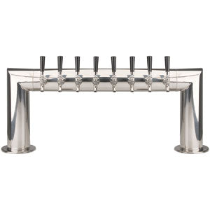 Pass Thru - 8 Faucet - Polished Stainless Steel - Air Cooled # PT4A-8PSS