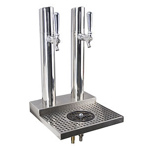 Skyline Beer Station, 2 Faucet, Polished Stainless Steel # BS-SKY-2PSSKR