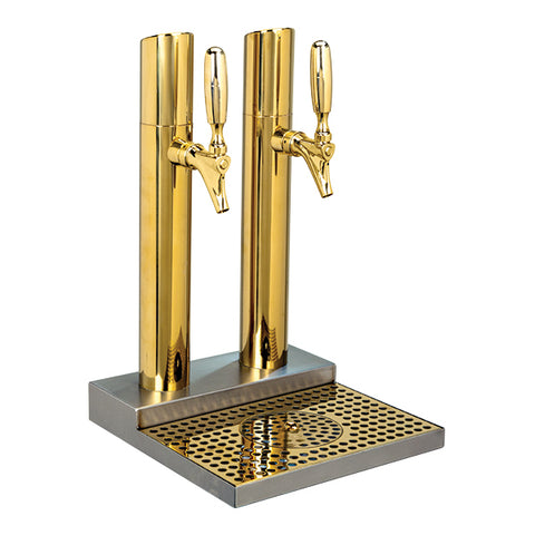 Skyline Beer Station, 2 Faucet, Stainless Steel, PVD Brass # BS-SKY-2PVDKR
