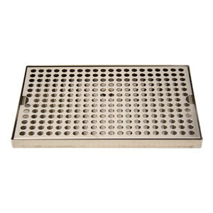 "Surface Mount Drip Tray, 12"" x 8"", Stainless # DP-820D-12"