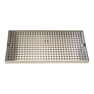 "Surface Mount Drip Tray, 16"" x 8"", Stainless # DP-820D-16"