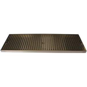 "Surface Mount Drip Tray, 24"" x 8"", Stainless Steel Tray with PVD Grid # DP-820DSSPVD-24"