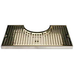 Surface Mount Drip Tray, with Cutout, No Drain, PVD Brass # DP-920SSPVD