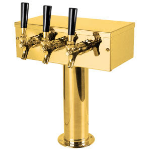 """T"" Style Tower - 3 Faucets - PVD Brass - Glycol Cooled # D7743PVDKR"