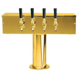 """T"" Style Tower - 4 Faucets - PVD Brass - Air Cooled # DS-254-PVD"