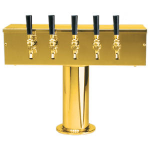 """T"" Style Tower - 5 Faucets - PVD Brass - Glycol Cooled # DS-255-PVDKR"