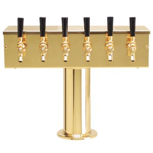 """T"" Style Tower - 6 Faucets - PVD Brass - Air Cooled # DS-256-PVD"