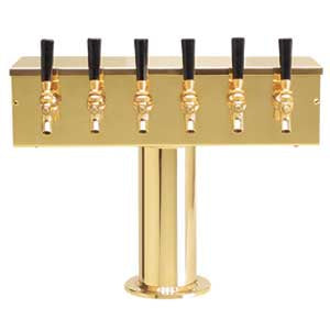 """T"" Style Tower - 6 Faucets - PVD Brass - Glycol Cooled # DS-256-PVDKR"