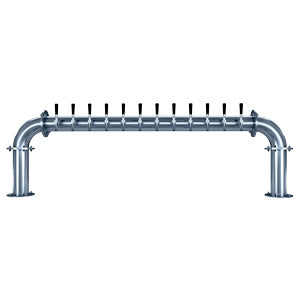 "Titan ""U"" - 12 304 Faucets - Polished Stainless Steel - Glycol Cooled # TT-U-12KR-11"