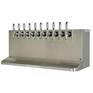 Under Bar Dispensing Cabinet - Glycol Cooled - 10 304 Faucets # SB1038-KR